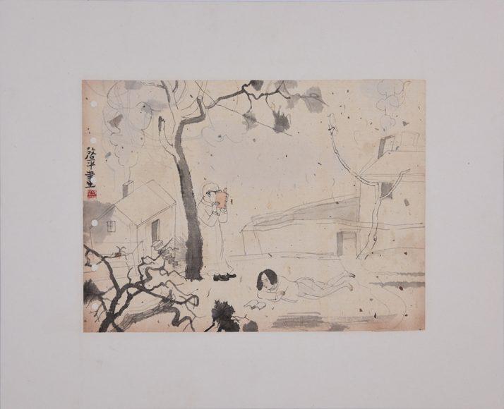 余启平 YU Qiping_思文_Ink on paper_24.0×33.0cm_2018_m