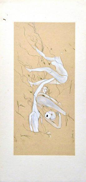 柴一茗 CHAI Yiming_点绛唇_Ink on paper_35×17cm_2007_m