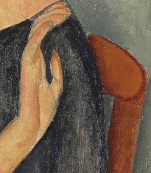 Amedeo Modigliani, Jeanne Hebuterne, 1919-details-07