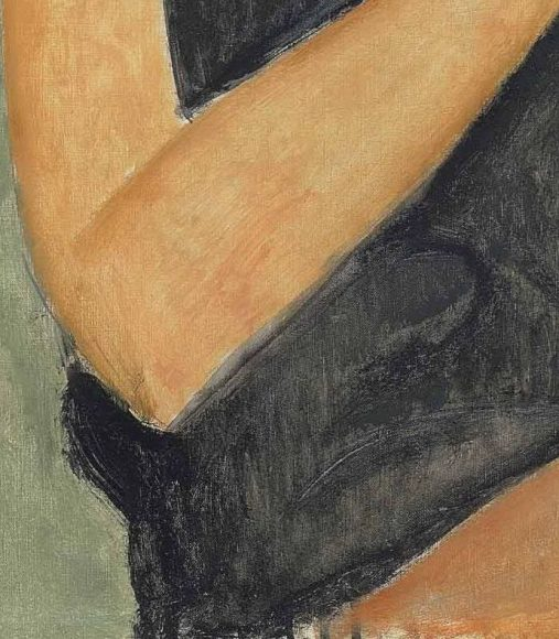 Amedeo Modigliani, Jeanne Hebuterne, 1919-details-11