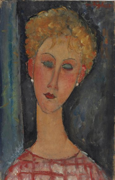 Amedeo Modigliani, La blonde aux boucles doreille, 1918-1919
