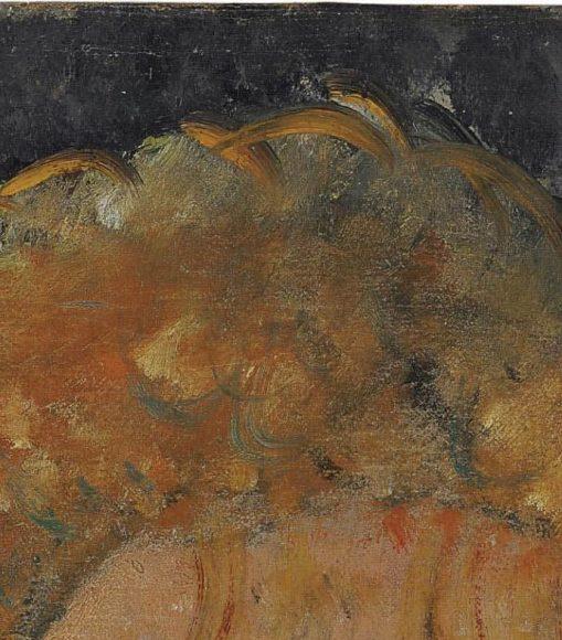 Amedeo Modigliani, La blonde aux boucles doreille, 1918-1919-details-03