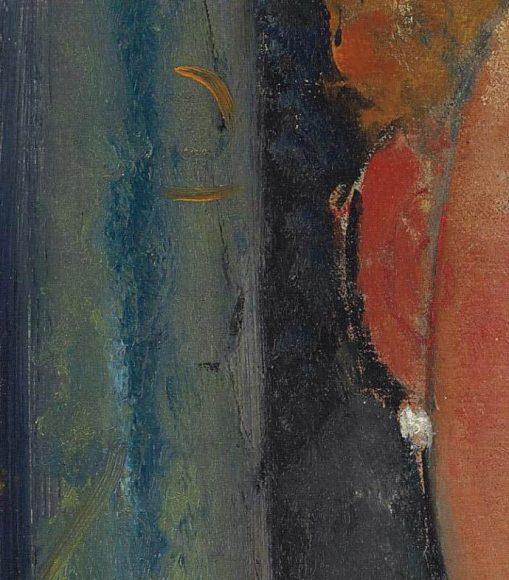 Amedeo Modigliani, La blonde aux boucles doreille, 1918-1919-details-04