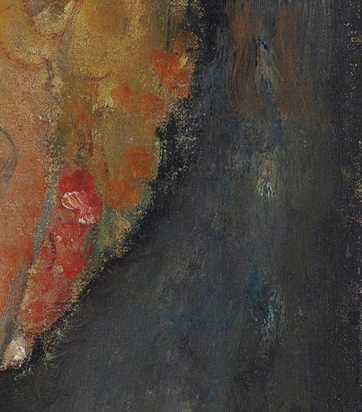 Amedeo Modigliani, La blonde aux boucles doreille, 1918-1919-details-05