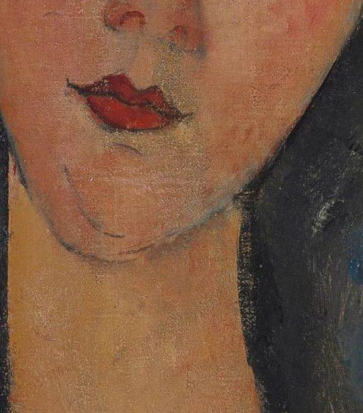 Amedeo Modigliani, La blonde aux boucles doreille, 1918-1919-details-07