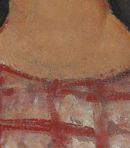 Amedeo Modigliani, La blonde aux boucles doreille, 1918-1919-details-10
