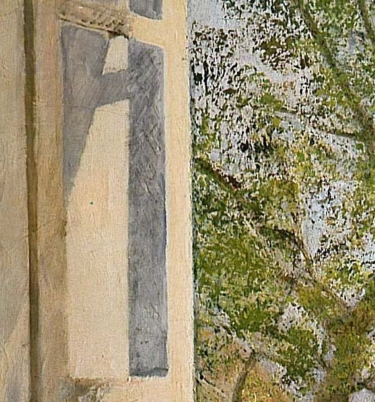 Balthus, Girl at a Window, 1957-details-01