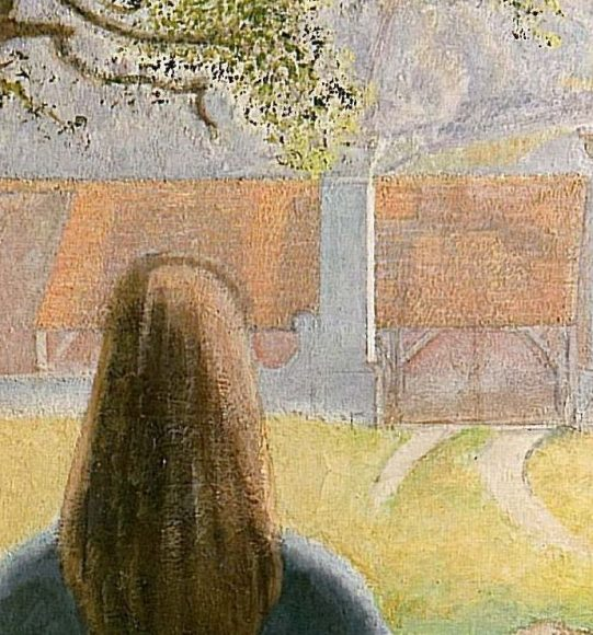 Balthus, Girl at a Window, 1957-details-05