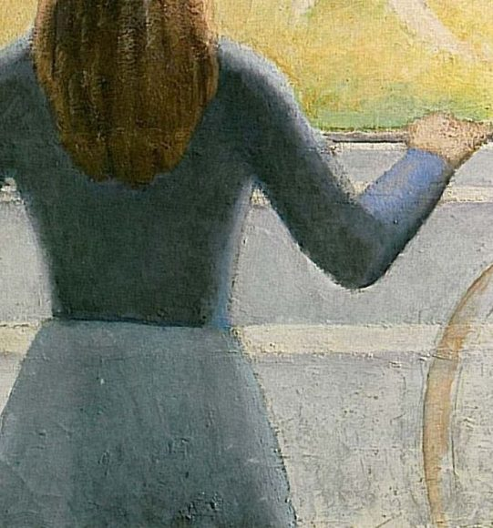 Balthus, Girl at a Window, 1957-details-08