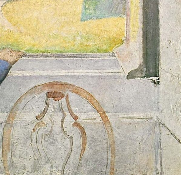 Balthus, Girl at a Window, 1957-details-09