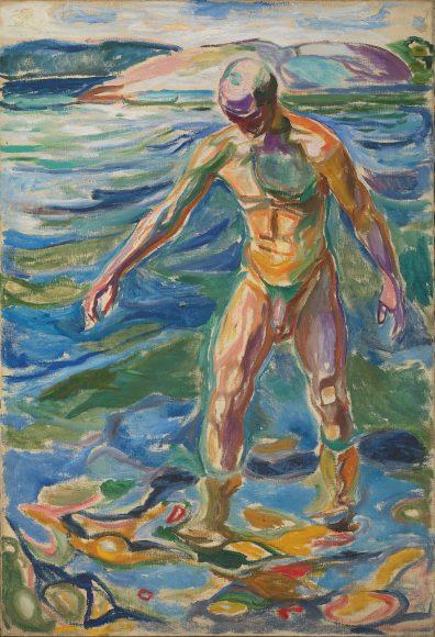 NOR Badende mann, ENG Bathing Man