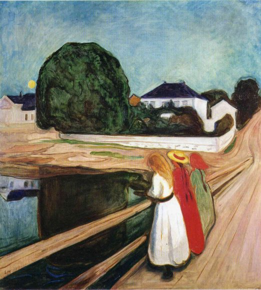 Edvard Munch, Girls on the Bridge, 1901