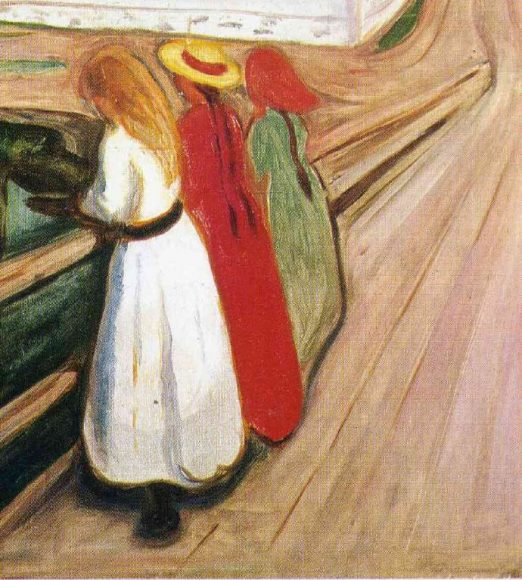 Edvard Munch, Girls on the Bridge, 1901-details-01