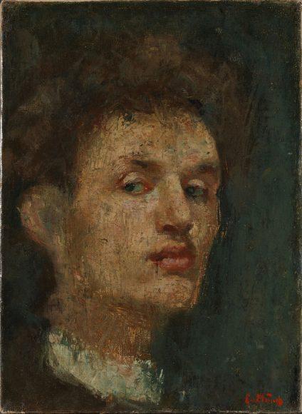 Edvard Munch, Self-Portrait, 1886