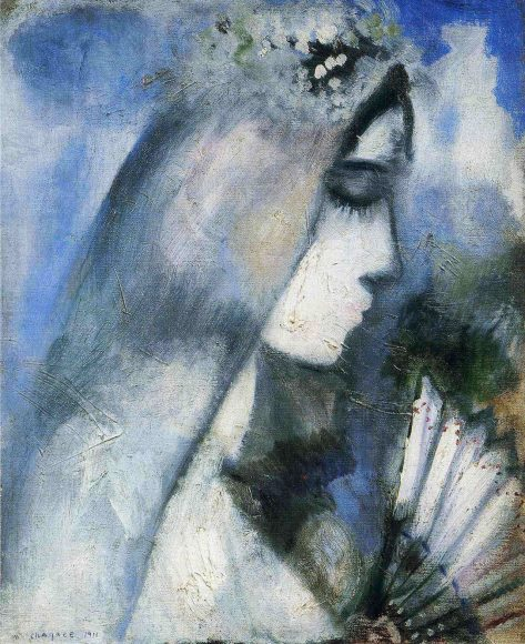 Marc Chagall, Bride with Fan, 1911