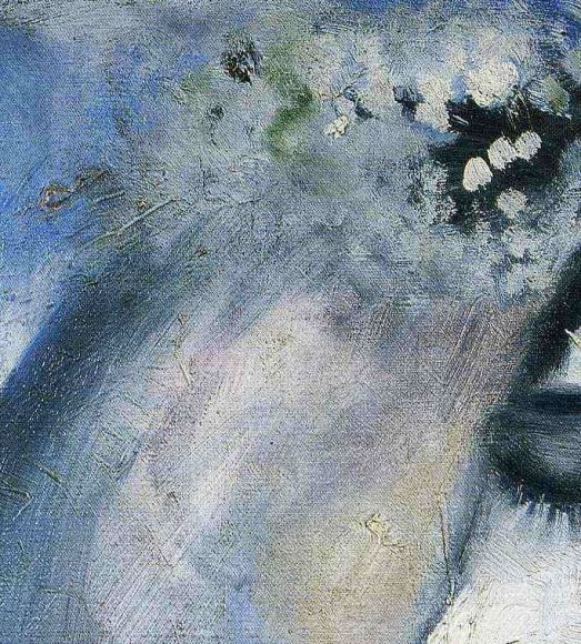 Marc Chagall, Bride with Fan, 1911-details-02