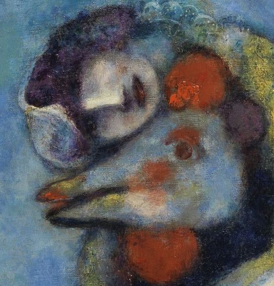 Marc Chagall, The Cock, 1928-details-01