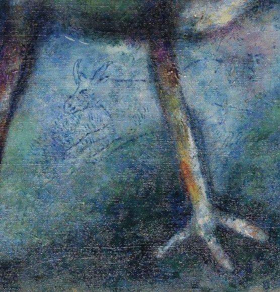 Marc Chagall, The Cock, 1928-details-11