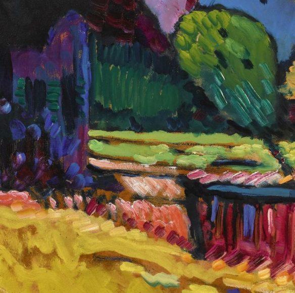 Kandinsky, Murnau – Landscape with Green House, 1909-details-04