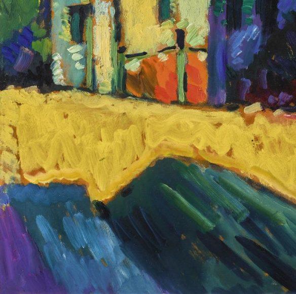 Kandinsky, Murnau – Landscape with Green House, 1909-details-05