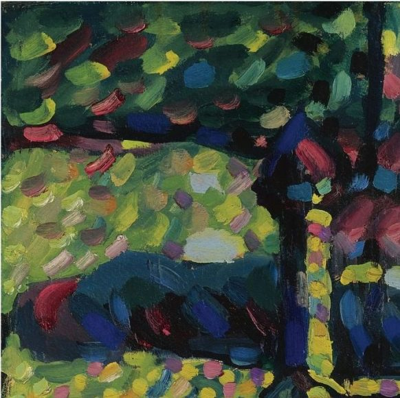 Kandinsky, White Sound, 1908-details-01