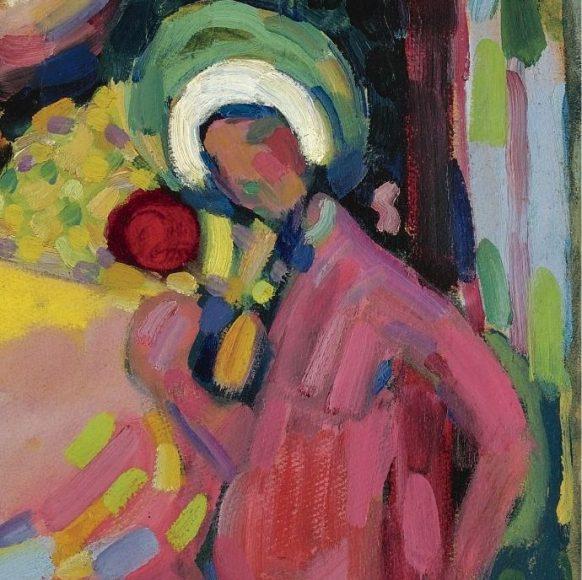 Kandinsky, White Sound, 1908-details-06
