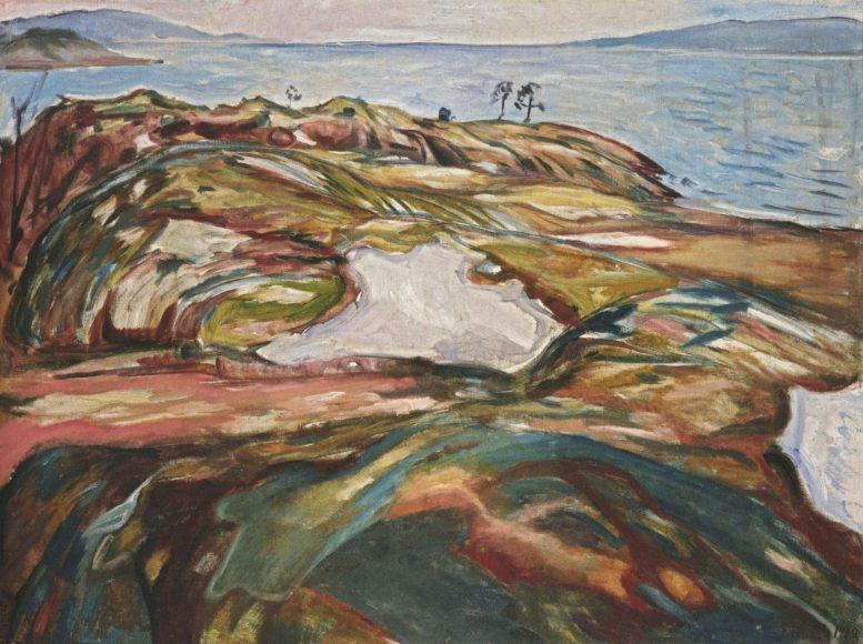 Edvard Munch, Coastal Landscape, 1918