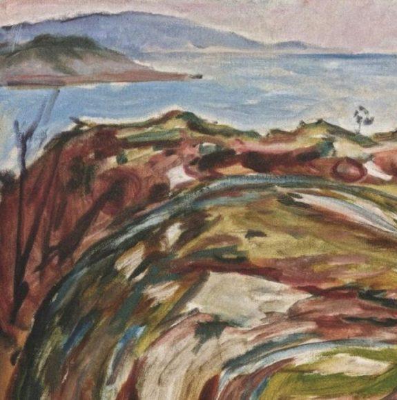 Edvard Munch, Coastal Landscape, 1918-details-01
