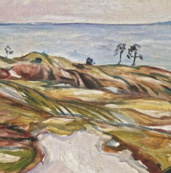 Edvard Munch, Coastal Landscape, 1918-details-02