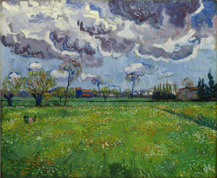 Vincent Van Gogh, Paysage sous un ciel mouvemente, 1889