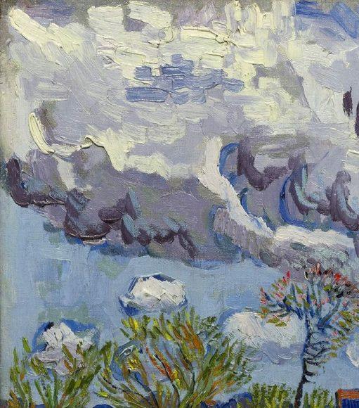 Vincent Van Gogh, Paysage sous un ciel mouvemente, 1889-details-01