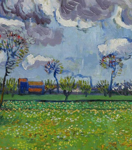 Vincent Van Gogh, Paysage sous un ciel mouvemente, 1889-details-06