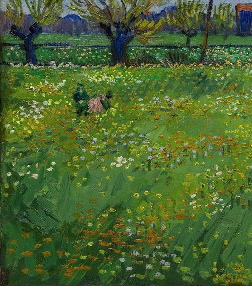 Vincent Van Gogh, Paysage sous un ciel mouvemente, 1889-details-09