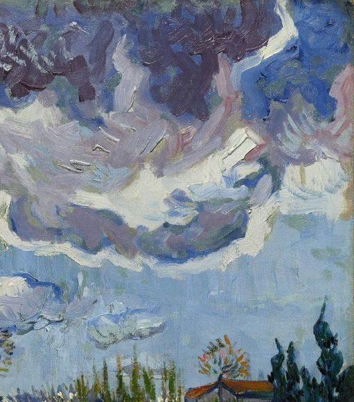 Vincent Van Gogh, Paysage sous un ciel mouvemente, 1889-details-10