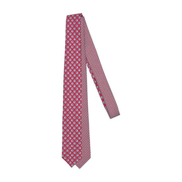 22 6厘米斜纹真丝双图案领带