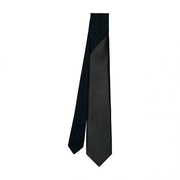 25 7厘米羊绒配小羊皮领带