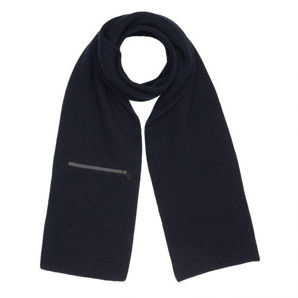 27 羊毛羊绒混纺围巾,饰拉链式口袋