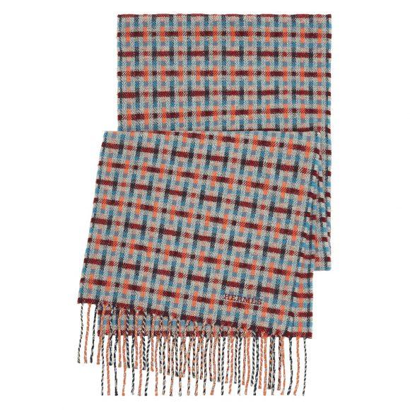 29 羊绒围巾,饰苏格兰风格H图案