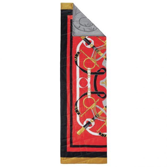 36 斜纹真丝羽绒围巾