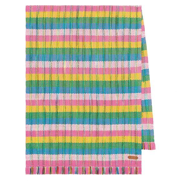 39 全手工编织与染色羊绒披肩