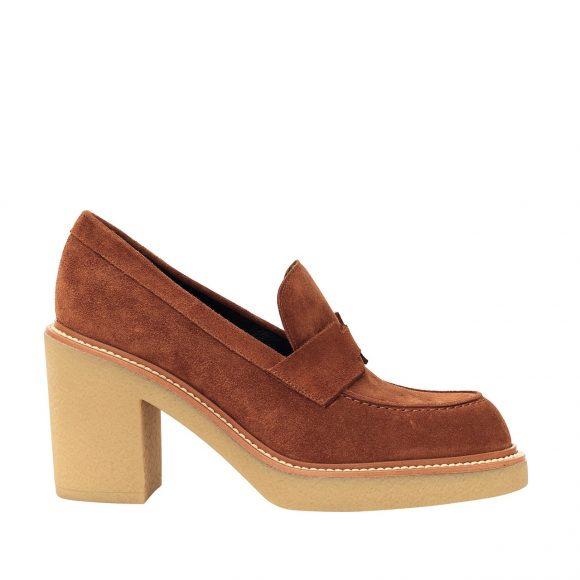 45 绒面小牛皮高跟鞋,配绉纱纹理鞋底
