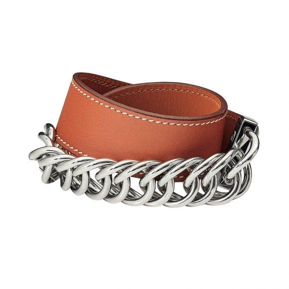 48 Swift小牛皮双圈手环,搭配镀钯金属饰件