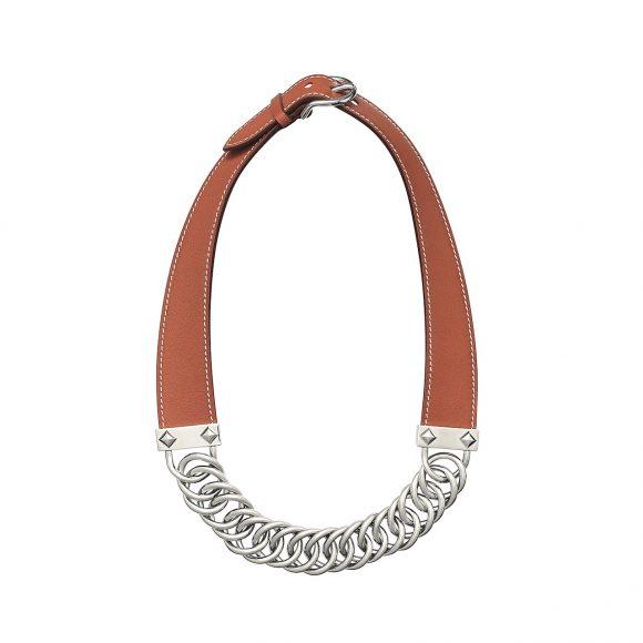49 Swift小牛皮项链,搭配镀钯金属饰件