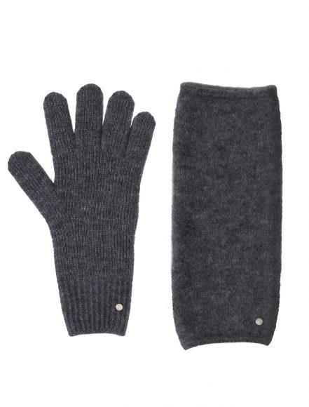 59 羊绒配真丝手套及露指手套