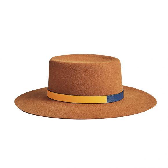 63 毛毡帽,配Swift小牛皮