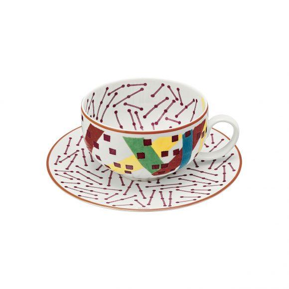 82 Hippomobile陶瓷茶杯与杯碟