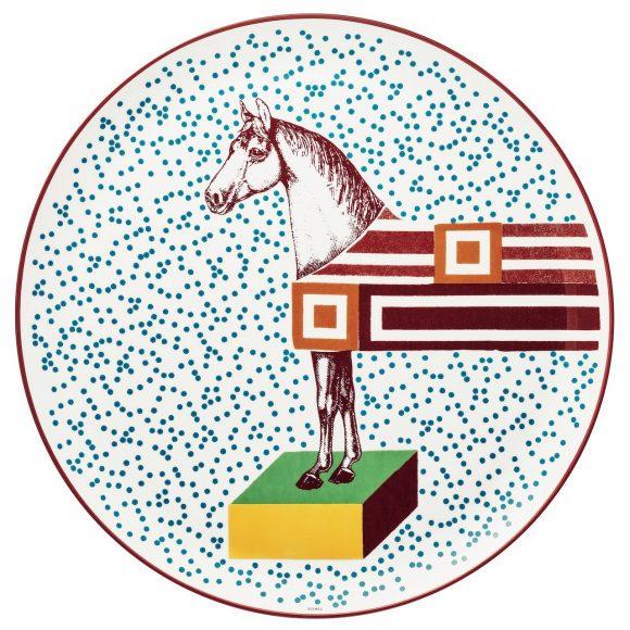 83 Hippomobile陶瓷糕点盘